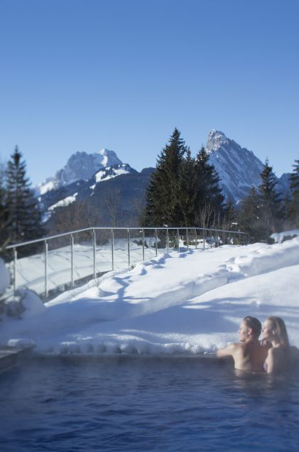 Wintry heights at the ERMITAGE Wellness- & Spa-Hotel