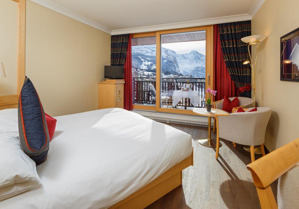 Einzelzimmer Jungfraublick (mit Balkon)