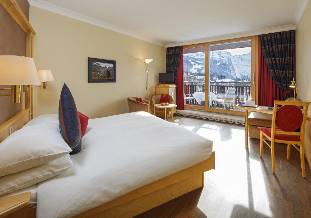 Doppelzimmer Jungfraublick (mit Balkon)