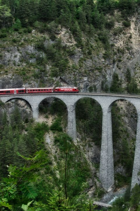 Zugreise durch die Schweiz