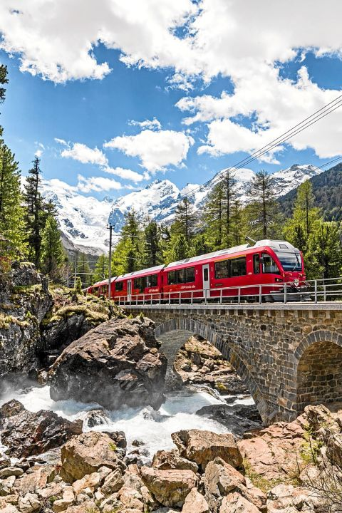 Hop on Hop off en train dans les Grisons