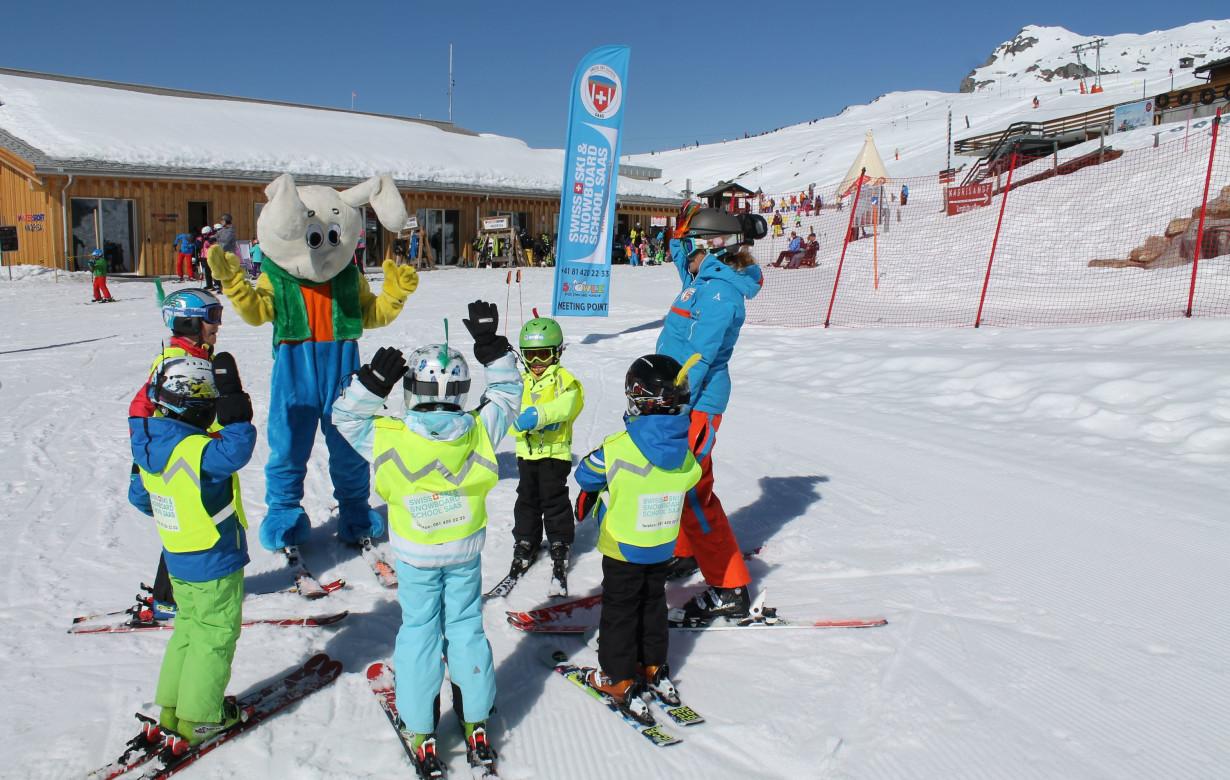 Kinder Ski Ganztags Blue League