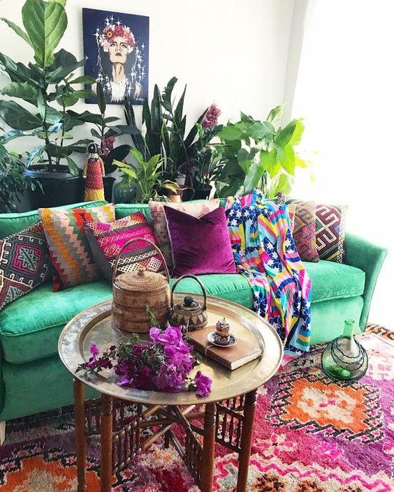 Ispirazione sud america - soggiorno con piante