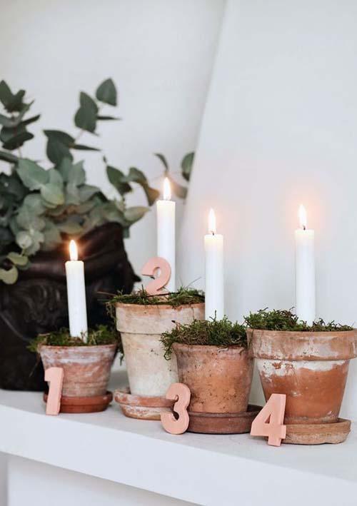 Decorazioni natalizie - con candele