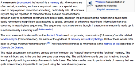 Story generator and mnemonics