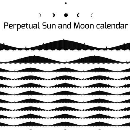 Perpetual Sun and Moon calendar