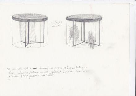 concept sketch revolving door