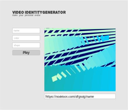 Video Identity Generator