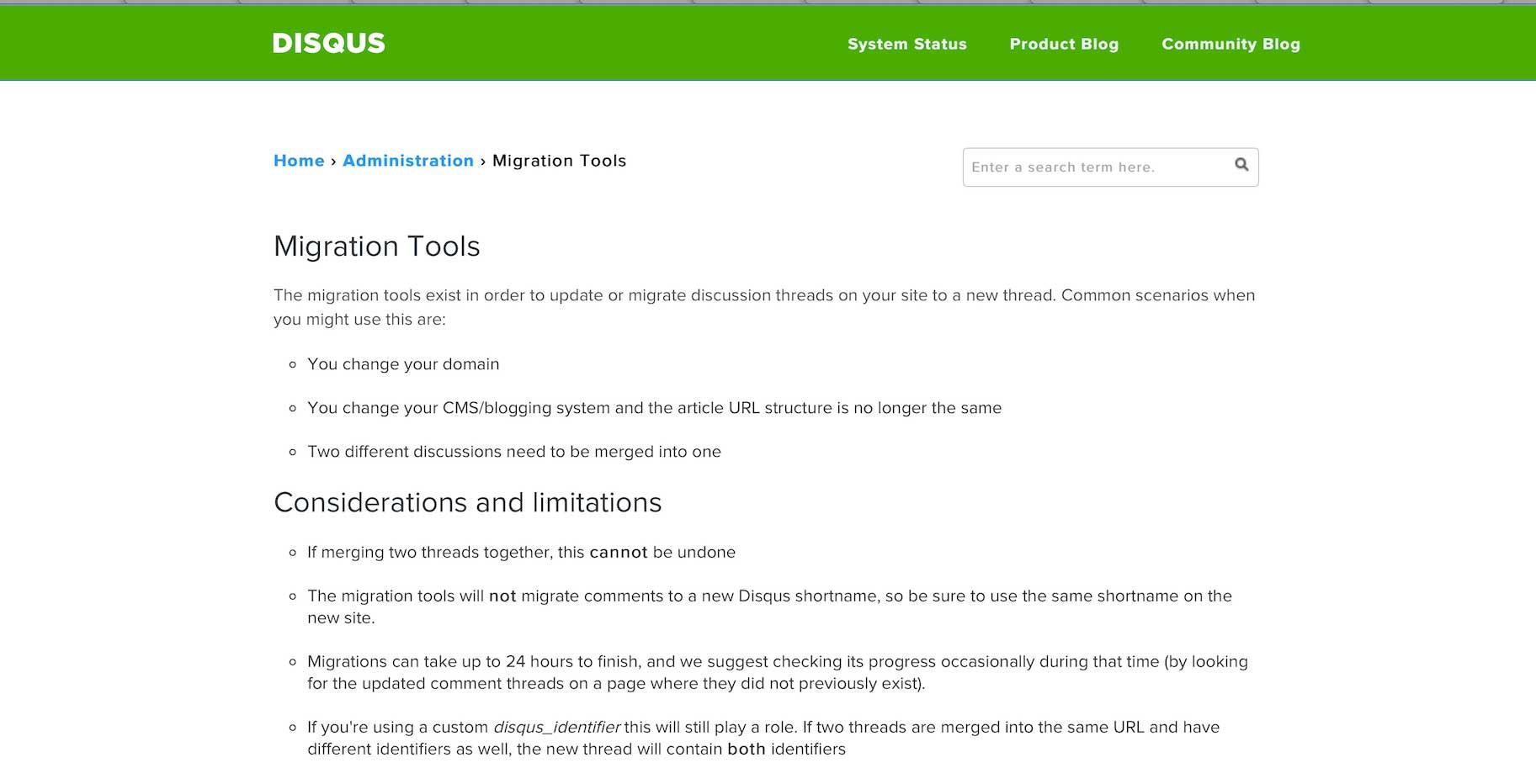 Disqus Migration Tools