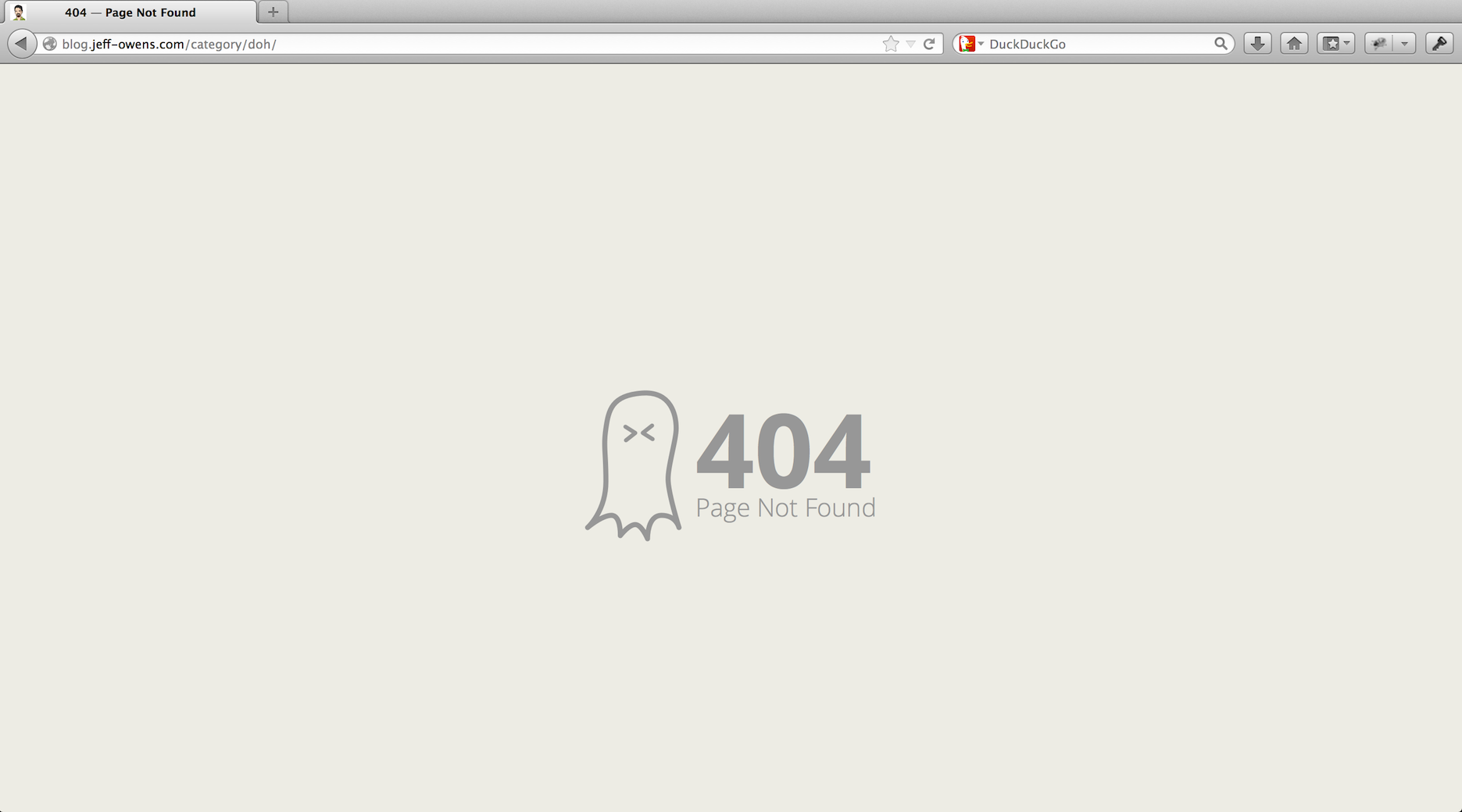 Ghost 404 Error