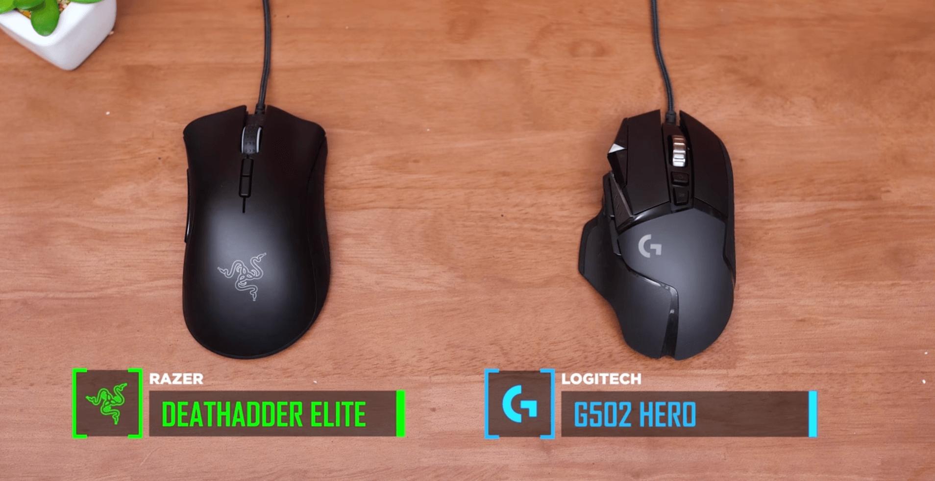 Logitech G502 vs Razer DeathAdder