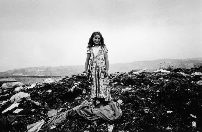Photo en noir et blanc de Gabriel Cuallado, intitulée La petite gitane (au quotidien)