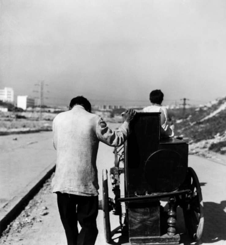 Photo en noir et blanc de Gabriel Cuallado, intitulée Joueurs d'orgue (Madrid)