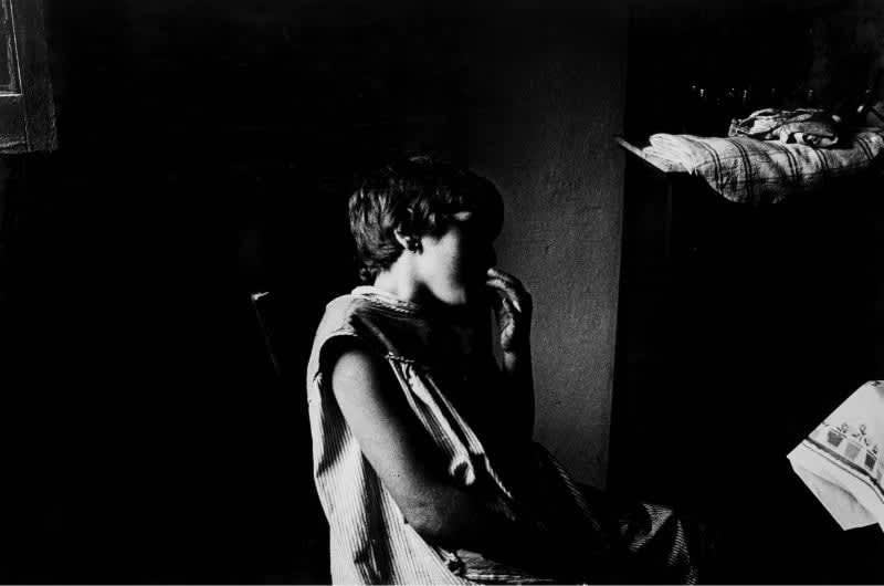 Foto en blanco y negro de Gabriel Cuallado, titulada Hija de Jesus (Asturias)