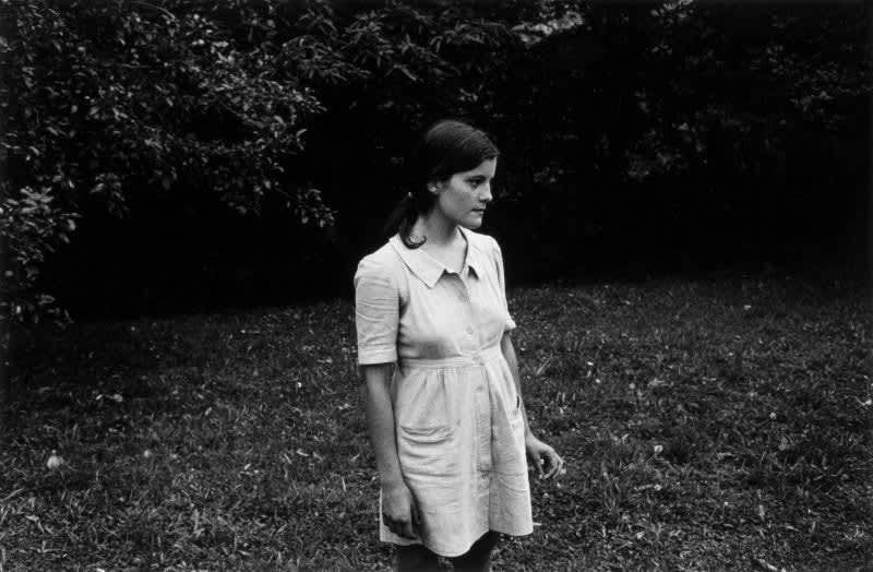 Black and white photo of Gabriel Cuallado, entitled Marina's profile (Family)