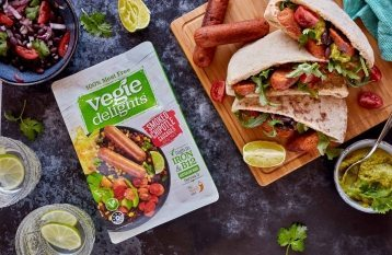 Vegie Delights Mexican Black Bean Pita with Smoked Chipotle Sausages0 6