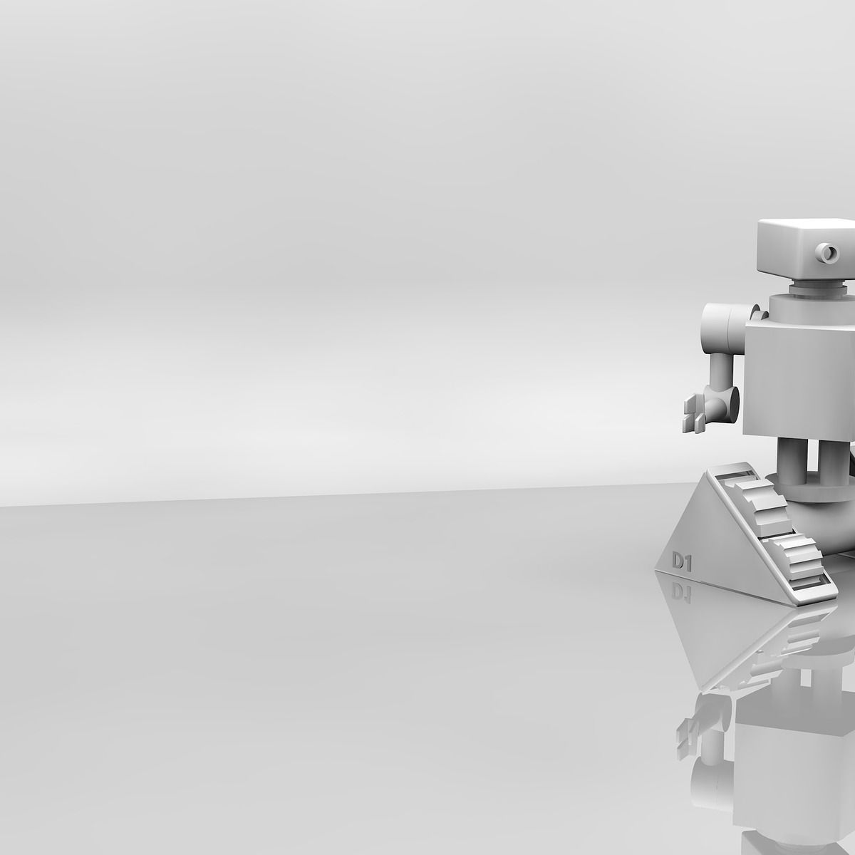 Android, robot, 3d, computer graphic, grey, cyberworld