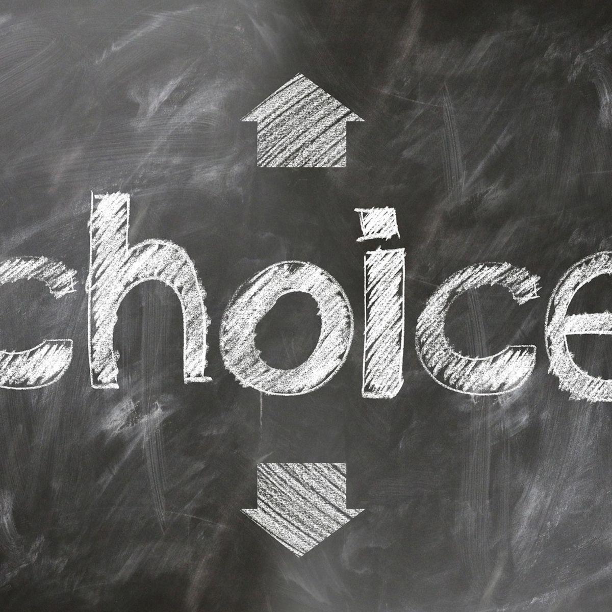 Choice among 4 arrows