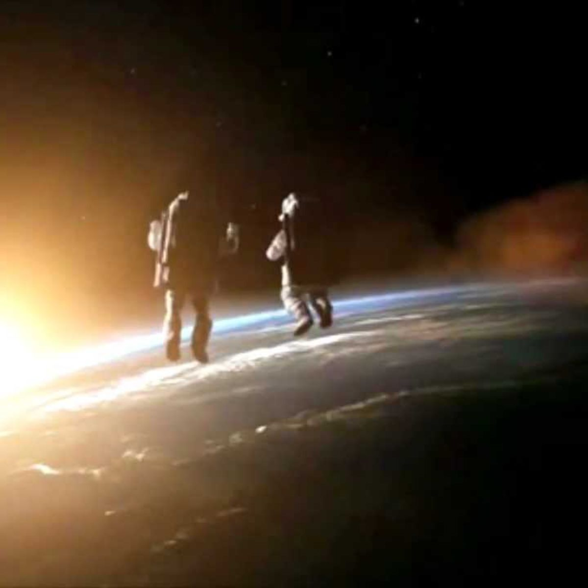 Advertisement: Discovery Channel - astronauts in space, earth