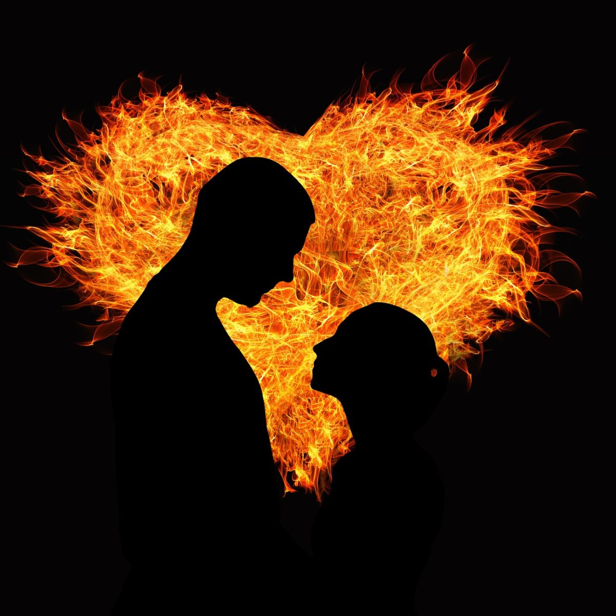 Heart of flames: Lovers in hot love