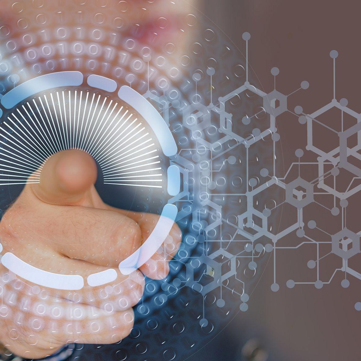 Internet, cyber, touch-screen, finger, future