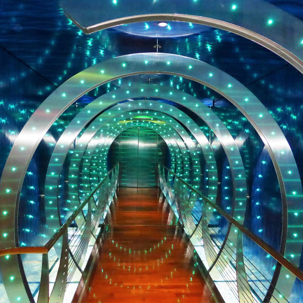 Tunnel, led lights, lighting, psychedelic, science fiction