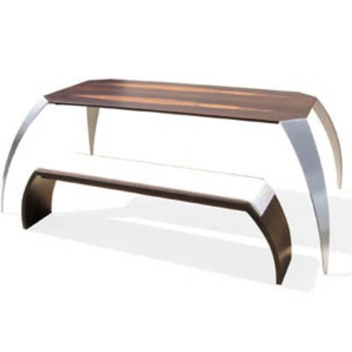 Design table and bench by Roller