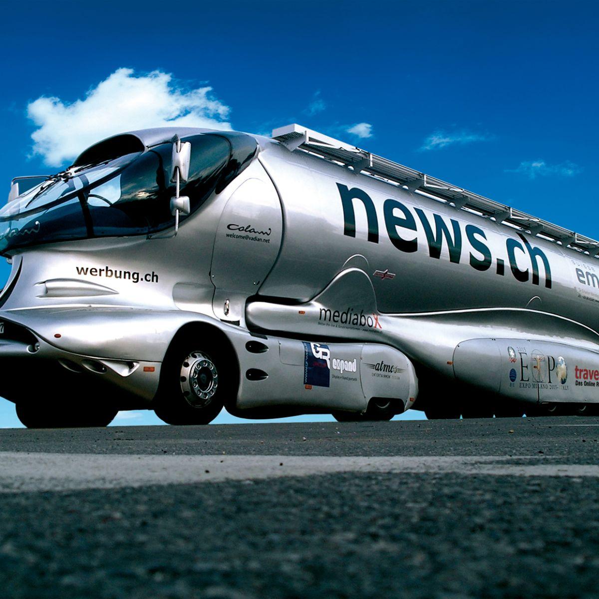 Space Truck, futuristic, by designer Luigi Colani