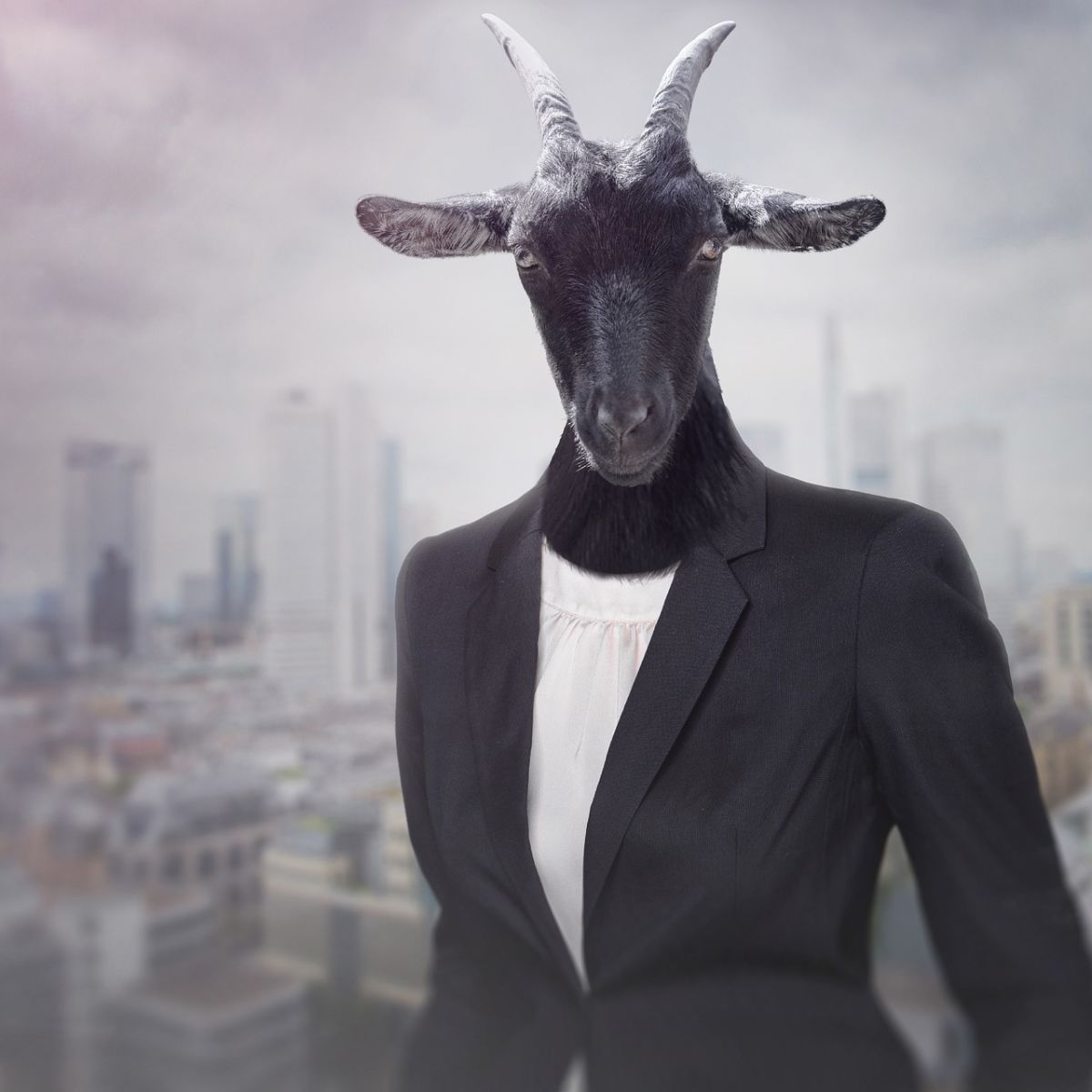 Woman with goat head