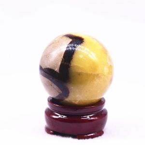Turtle back stone carving crystal ball Image 1