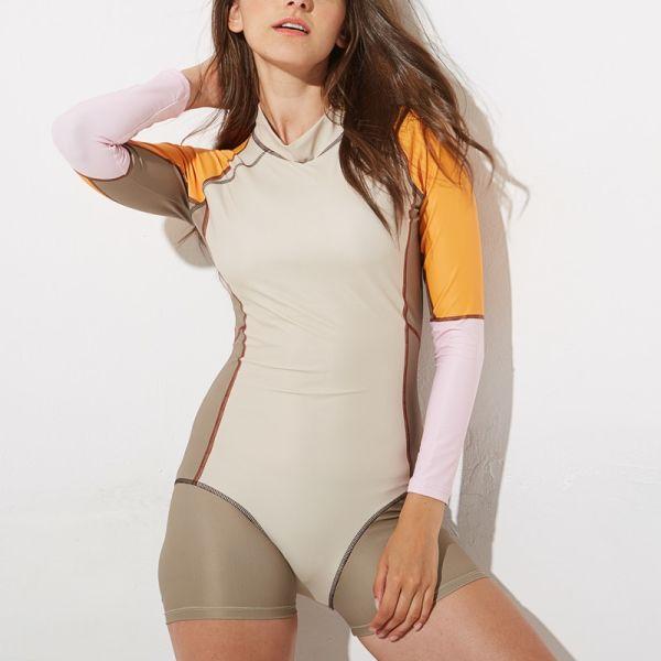FIGOBELL 2018 One Piece Swimsuit Long Sleeve Swimwear Bathing Suit Women Swimsuit Print Floral One-piece Swim Suits Surfing Wear Image 6