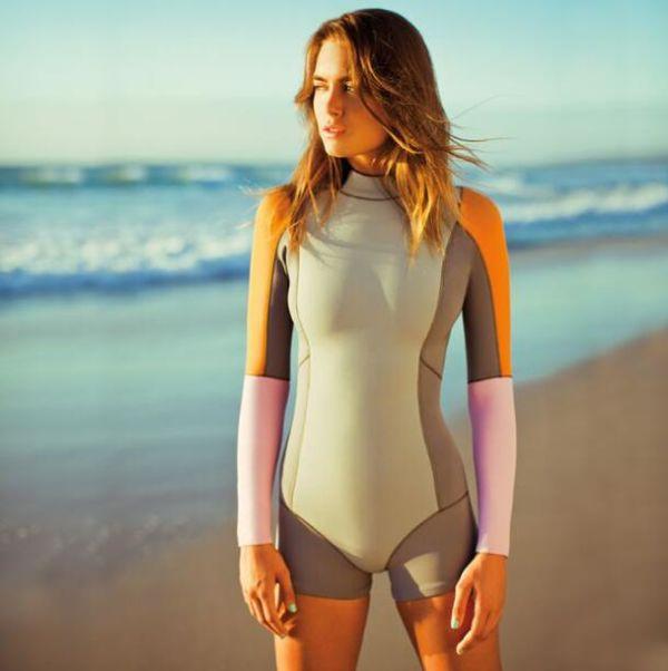 FIGOBELL 2018 One Piece Swimsuit Long Sleeve Swimwear Bathing Suit Women Swimsuit Print Floral One-piece Swim Suits Surfing Wear Image 15