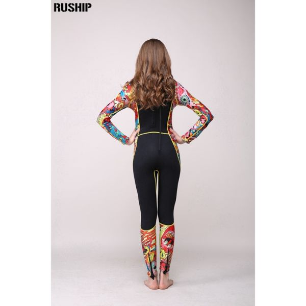 High quality 3 mm women neoprene wetsuit High elasticity color stitching Surf Diving Equipment Jellyfish clothing long sleeved Image 5