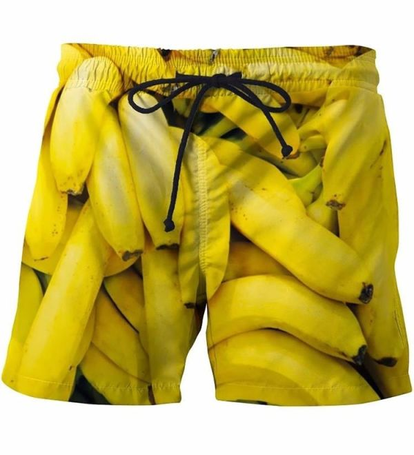 Summer Men Beach Shorts 2018 bananas yellow 3D Print New Fashion Men's Bermuda Boardshorts Fitness Trousers Plus Size Quick Dry Image 2