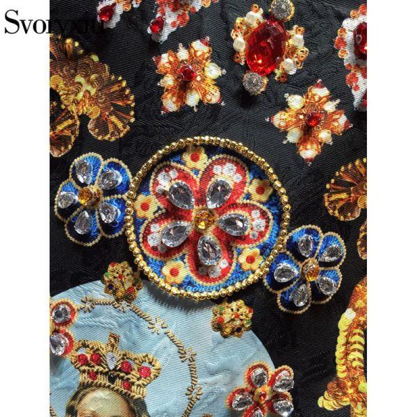 Vintage Black Mini Dress Women's Sleeveless Luxurious Diamonds Dress Image 4