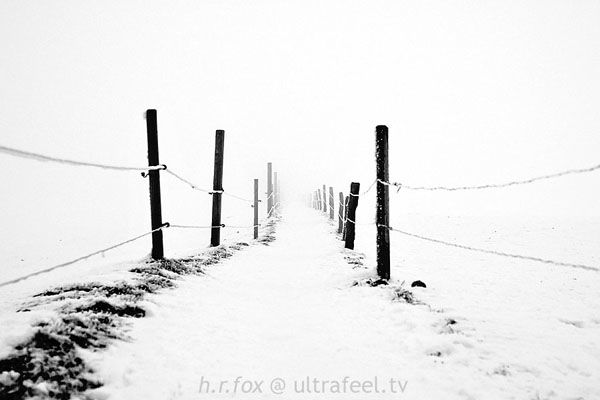 'Fence into Infinity' by h.r.fox - snowy landscape