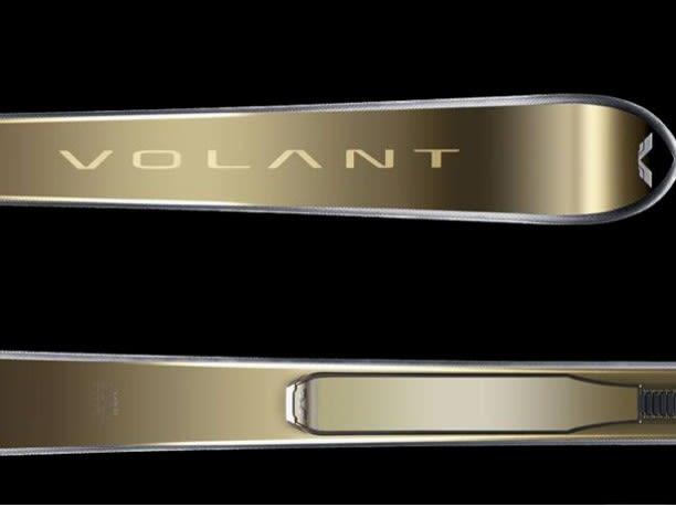 Golden alpine ski by Volant