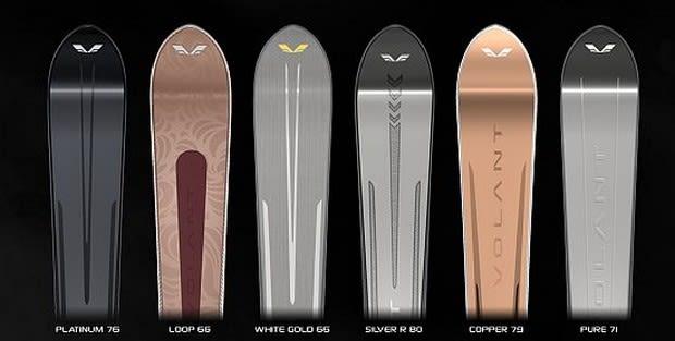 Volant skis: Precious metals