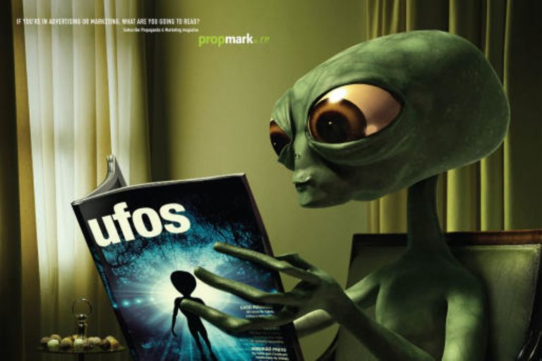 Aliens would surely read 'ufos' magazine…