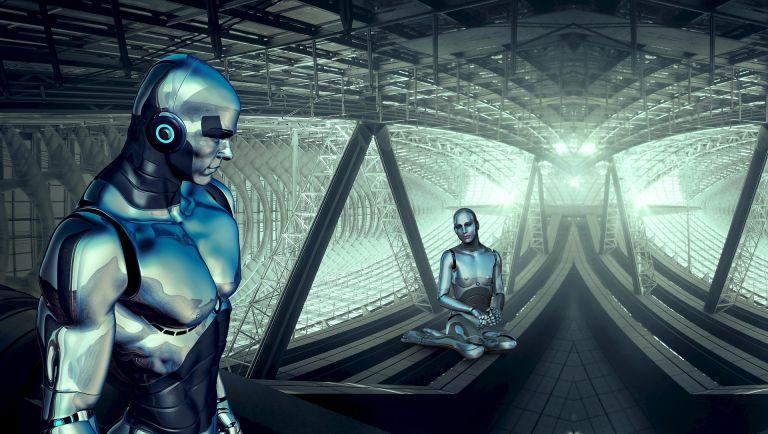 Androids: Alien space robots, science fiction