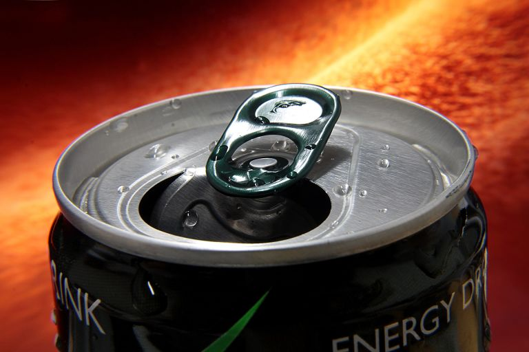 Energy drink open can
