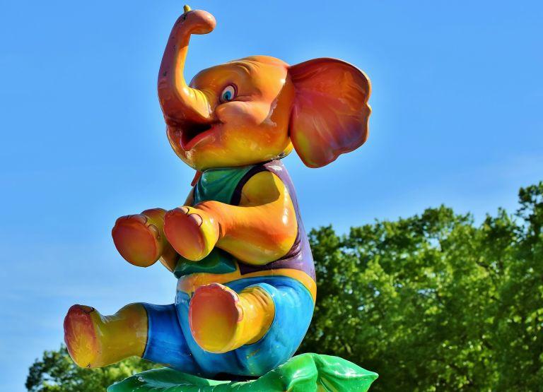 Funny baby elephant figure