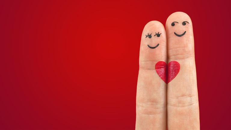 Fingers with heart: Love