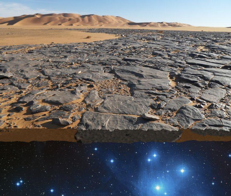 Flat earth, rocks, edge, world, universe