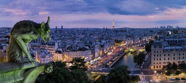 Gargoyle in Paris, Notre-Dame, sculpture