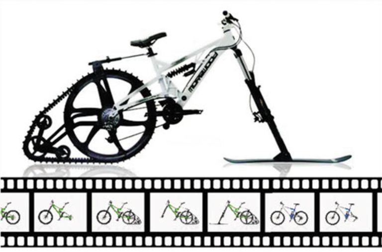 Ktrak ski mountain bike