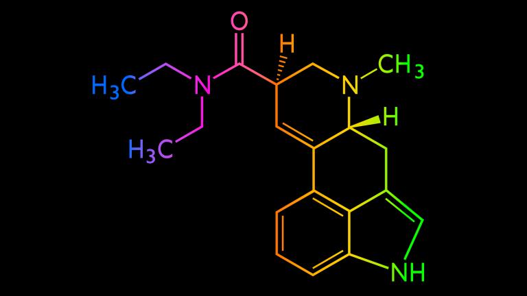 LSD structural chemical formula
