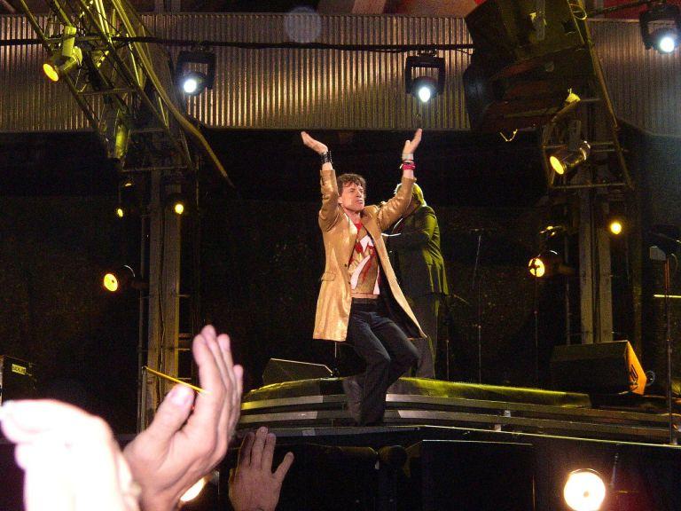 Rock god: Mick Jagger in concert