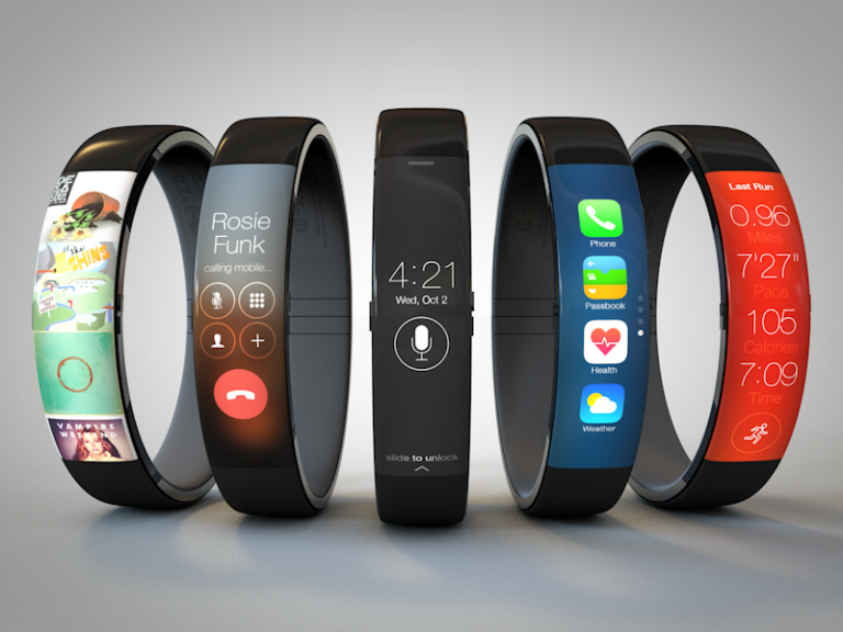 Mobile phone concept: Armband, wrist, watch
