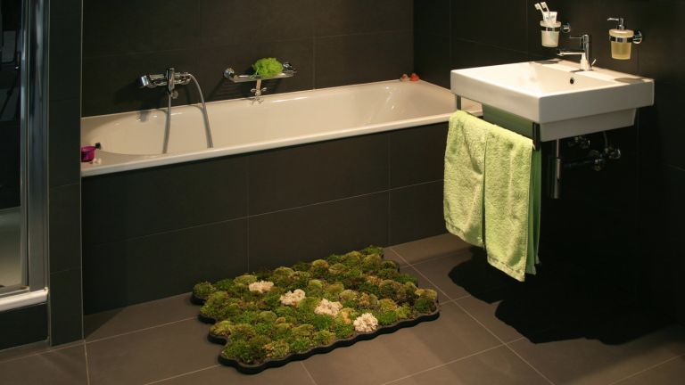 Moss carpet in bathroom by Nguyen La Chanh